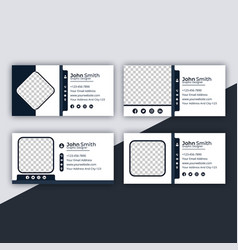 email signature professional web design template vector image