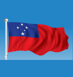 Flag of samoa vector