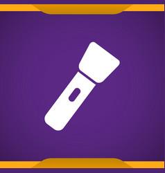 flashlight icon vector image