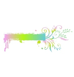 Floral rainbow banner vector image
