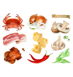 food flavors and seasonings for snacks natural vector image