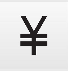 gray yen money icon isolated on background modern vector image