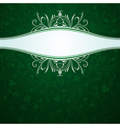 Green card with shamrock vector