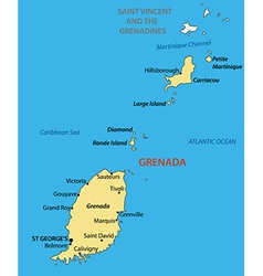 Grenada - map vector