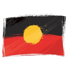 Grunge Aboriginal flag vector