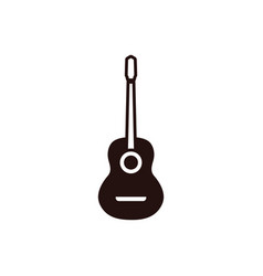 guitar graphic design template isolated vector image