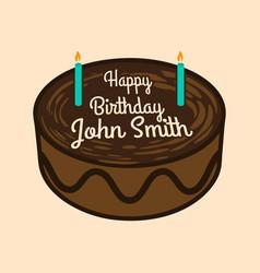 happy birthday cake with name vector image