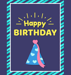 happy birthday card and text vector image