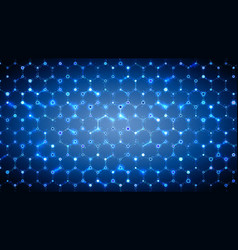 hexagonal modern technology background vector image