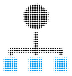 Hierarchy halftone icon vector