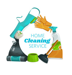 House cleaning tools equipment clean service vector