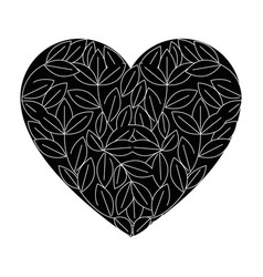 Isolated sheet tree heart vector