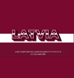 Latvia flag color text style design templates vector