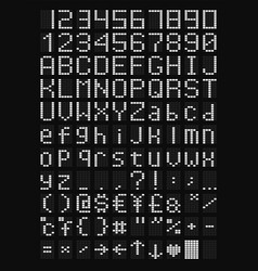 Led alphabet and numbers vector