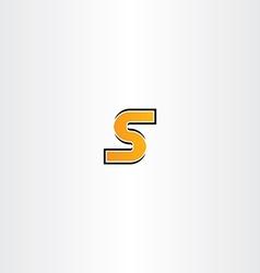 letter s orange icon logotype sign vector image
