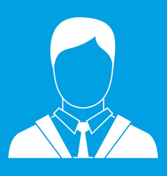 Man in business suit icon white vector