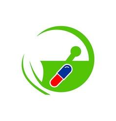 Medical Icon Logo Capsule Potion Symbol vector