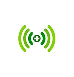 medical wifi logo icon design vector image