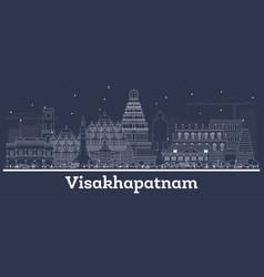 Outline visakhapatnam india city skyline vector