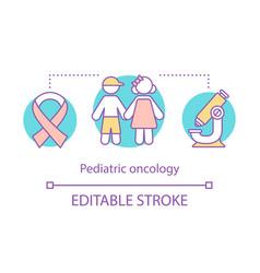 Pediatric oncology concept icon vector