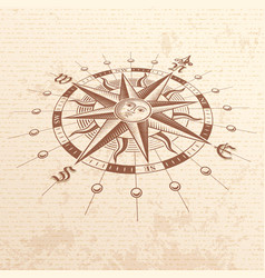 perspective compass rose vector image