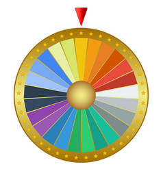 prize wheel fortune isolated on a white vector image