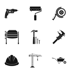 Repair tools icons set simple style vector