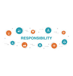 Responsibility infographic 10 steps circle design vector