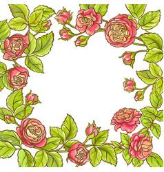 rose branch frame vector image