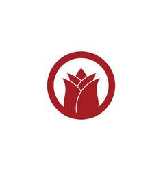 Rose flower logo template vector