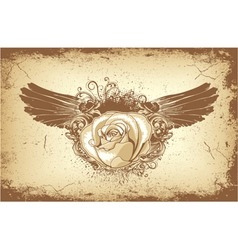 rose with wings vector image