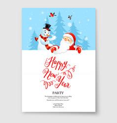 santa claus card holiday vector image