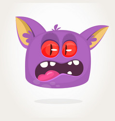 scary cartoon monster vector image
