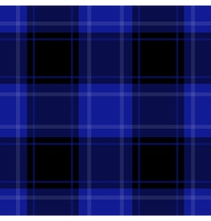 seamless blue black tartan with white stripes vector image