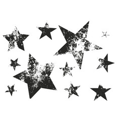 set of grunge stars vector image