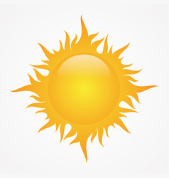simple sun vector image