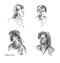 Sketches of Women vector image