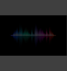 sound radio audio light wave background vector image
