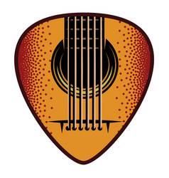 stylish color plectrum for guitar vector image