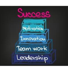 Success chart 6 vector