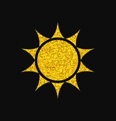 sun logo design gold glitter texture vector image