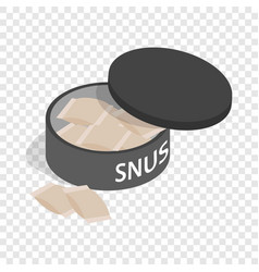 swedish snus chewing tobacco isometric icon vector image