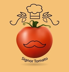 tomato and funny logo vector image