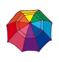 top view colorful opened umbrella concept vector image