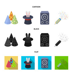 Tricks music and other accessories at the party vector