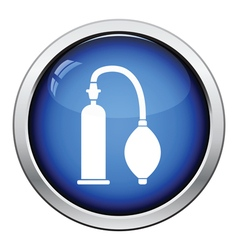 Vacuum penis machine icon vector image