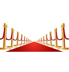 Velvet rope and red carpet vector