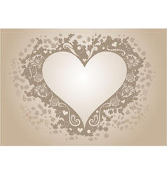 Vintage heart shaped frame with copy space vector image