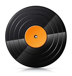 Vinyl record isolated vector