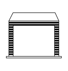 warehouse garage isolated icon vector image